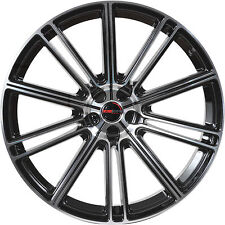 Set of 4 GWG Wheels 17 inch Black Machined FLOW 17x7.5 Rims 5x114.3 ET40 CB74.1