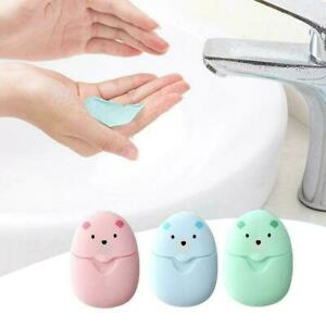 Foaming Soap Flakes Washing Hand Paper Travel Portable Sheets 50 Slice D9J5