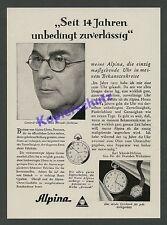 Alpina Uhren Dt. Werkstätten Hellerau Dir. Karl Schmidt Dresden Chronometer 1929