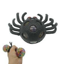 Squishy Rubber Mesh Grape Ball Black Spider Toy - Stress Sensory Toy - Halloween