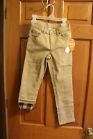 Girls Wonder Nation Kids PANTS Khaki stretch (lined Jeans style )Size 8 New tags