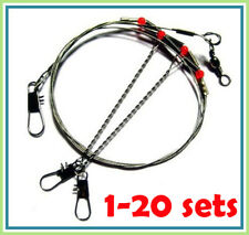 Stainless Steel Paternoster Fishing Rigs. 2 Boom. Beach, Pier or Boat.