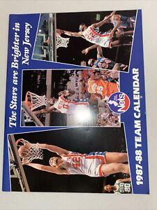 1987-88 New Jersey Brooklyn Nets Team Calendar