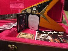 """Epiphone Flying-V Joe Bonamassa 1958 """"Amos"""" Outfit Limited Edition & JB strap"""