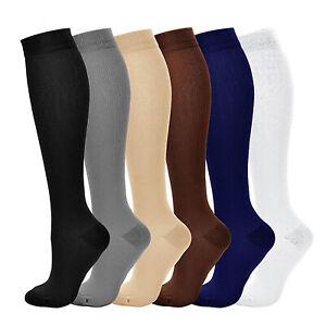 Mens Over Knee High Sport Socks Soccer Stretchy Long Socks Hockey Running Socks