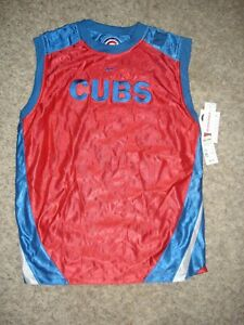MLB Chicago Cubs Nike reversible muscle tank Jersey red/blue YL youth L 16/18