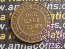 Australia 1914 H George V Half Penny X1, Average Circulated Condition