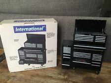 INTERNATIONAL Mini Tool Box Bank 1/8 Limited Edition MECHANIC GARAGE   Black