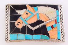 Native American Handmade by HL Zunie Horse Head Belt Buckle