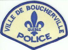 Ville de Boucherville Police, Quebec, Canada Vintage Uniform/Shoulder Patch