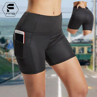 Women Yoga Sports Running Shorts Fitness Casual Gym Stretch Compression Pants AM