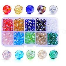 Crystal Glass Beads 8mm Briolette Faceted AB DIY Jewelry Making Supplies 300Pcs