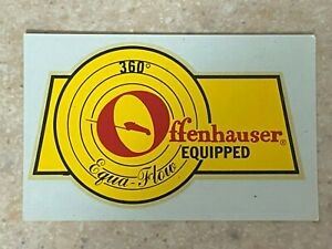 Equa-Flow Offenhauser Equipped Water Transfer Decal