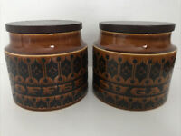 2 X Hornsea Jars 11cm High Hornsea Coffee Jar & Hornsea Sugar Jar
