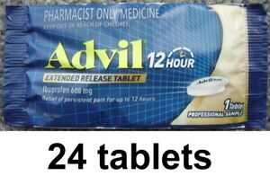 24x Advil 12hr Hour Extended Release Tablets ibuprofen muscle arthritis pain