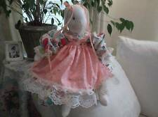 LITTLE RED RIDING HOOD HANDMADE STUFFED BUNNY RABBIT~MADE IN AMERICA