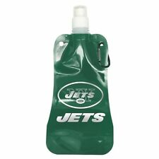 NFL New York Jets Foldable Water Bottle, 16-ounce, 2 or 4 Pack