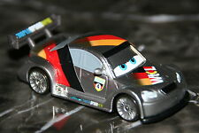 "DISNEY PIXAR CARS 2 ""MAX SCHNELL W/ METALLIC FINISH"" KMART SILVER RACER SERIES"