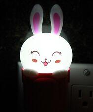 Cute Rabbit Wall Plug LED Night Light Kid Room Sleeping Light Energy Saving Lamp
