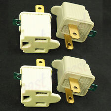 2 Prong to 3 Prong AC Power Outlet Grounding Adapter tap plug UL grounded  4Pack