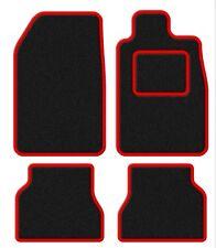 PEUGEOT 207 CC 07-velours noir / contour Rouge Ensemble tapis de voiture
