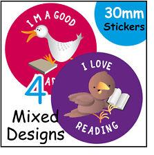 144 lettura Adesivi Ricompensa - 30mm per bambini premi per gli insegnanti, i genitori