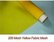 1 Yard Silk Screen Printing Mesh Fabric 200 Mesh Count(80T) Yellow 1.3yards wide