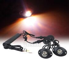 2in1 12W LED Hide Away Emergency Patrol Warning Flash Strobe Lights Amber/White