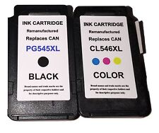 2x ink cartridges for Canon PG545XL CL546XL Pixma MG2450 MG2550 MG2950 MG2900