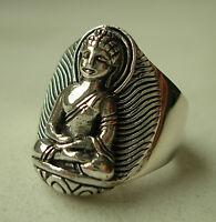 Toller MASSIV-RING mit BUDDHA 925er Silber aus NEPAL
