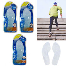 3 Pairs Massaging Shoe Insole Orthotic Silicone Gel Comfort Support Run Pad Mens