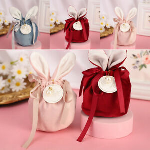 10pc Organizer Wedding Candy Bunny Rabbit Pouch Easter Gift Packing Bags New