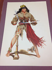 Jim Silke Signed Numbered sexy color Pirate Print