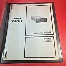 King KY 195 COMM Transceiver Installation Manual 006-0062-00