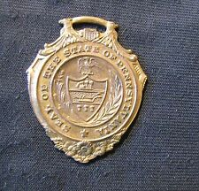 Seal of the State of Pennsylvania Shield Shaped Medal 14KT Gold Plated on Bronze