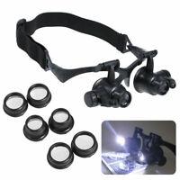 Brillenlupe LED Lupenbrille Lupe Vergrößerungsbrille Kopflupe 10X 15X 20X 25X CE