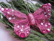 Artificial Butterflies - Organza & Jewel -Pink or Brown