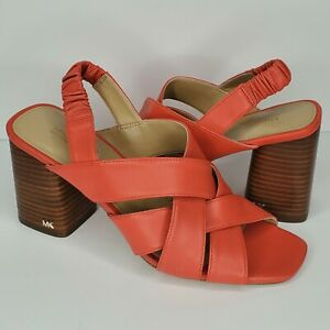 MICHAEL Michael Kors Women's Dixon Block Heeled Sandals Slingback Size 7M
