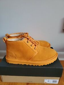 UGG Men's Neumel California Poppy Orange Suede Fur Shoes Size US 12