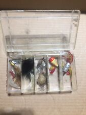 Box Of Vintage Fishing Lures Poppers And Flys