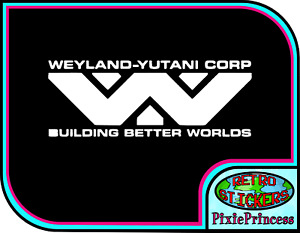 Alien Ripley AVP Xenomorph P Weyland Vinyl Sticker Wall Car Poster Window Decal