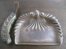 Art Nouveau Copper Crumb Tray and Brush, J.S & S England, Solid Copper
