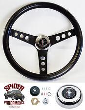 """1984-1991 Mustang steering wheel PONY CLASSIC BLACK 13 1/2"""" Grant steering wheel"""