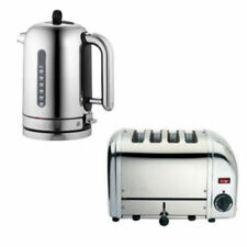 Dualit Polished Stainless Steel Classic 1.7L Jug Kettle & 4 Slot Vario Toaster