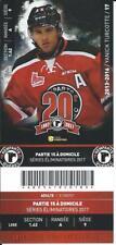 QMJHL Ticket - Quebec Remparts 20th Anniversary YANICK TURCOTTE #17