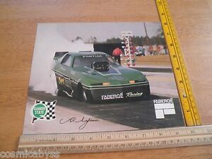 "Faberge Pontiac vintage early 1980's Funny Car photo card 8x10"" Pontiac Brut"