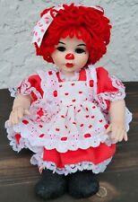 2007 #970 Marie Osmond Bear Hugs & Kissy Porcelain Clown Hearts Doll! Nice!