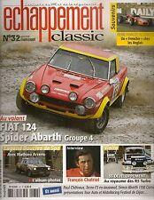 ECHAPPEMENT CLASSIC 32 FIAT 124 SPIDER ABARTH SIMCA ABARTH 1150 CORSA TECNO F3