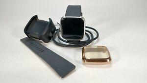 Fitbit Versa Lite Edition Smart Watch/Activity Tracker Charcoal/Silver Aluminum