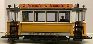 Vintage LGB 3500 Trolley Non Powered G Scale Strassenbahn Martini Trolley Car.